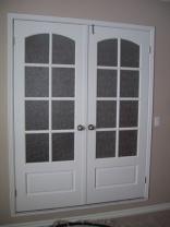 Dvokrilna lesena vrata